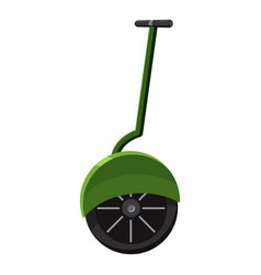 Solo wheel unicycle icon cartoon style vector