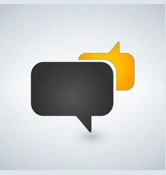speech bubbles icon black and yellow vector image