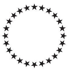 stars in circle icon design vector image