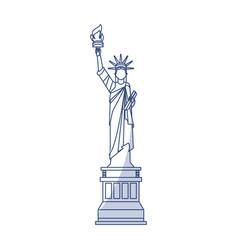 statue of liberty cartoon vector image
