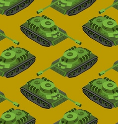 Tank Isometric seamless pattern Army machinery vector image