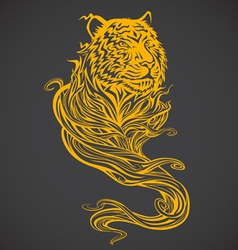 Tiger spirit light vector