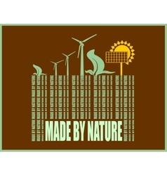 Type of renewable energy info graphics background vector