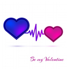 Valentines day card on pink background vector image