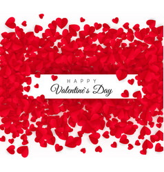valentines day greeting card with text - happy vector image