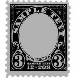 Vintage postal mark vector