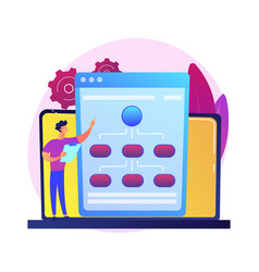 Web hosting service concept metaphor vector