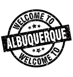 welcome to albuquerque black stamp vector image