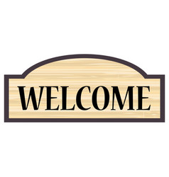 Welcome wooden sign vector
