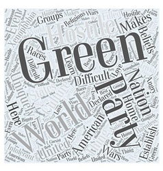What is the Green Party Word Cloud Concept vector image