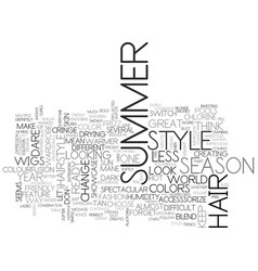 what will be hot in summer text word cloud vector image
