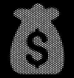 White dotted financial capital icon vector
