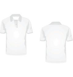 White polo t-shirt vector
