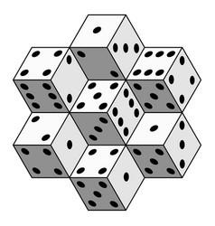 abstract dice composition vector image vector image
