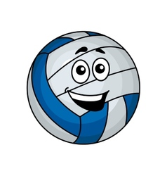 Cartoon volleyball ball vector image vector image