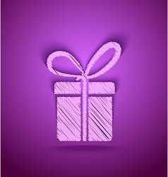 Celebration cute gift box vector image vector image