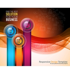 Clean Infographic Layout Template for data and vector image vector image