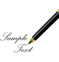 Fountain pen writing vector image