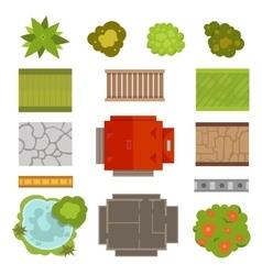 Landscape design constructor set vector image