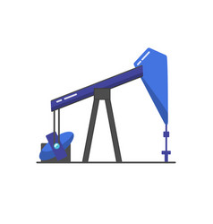 oil rig icon in flat style vector image vector image