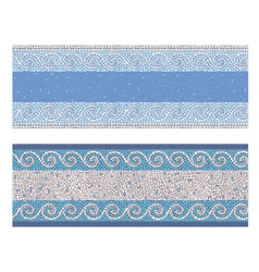 Seamless mosaic border in antique style vector image