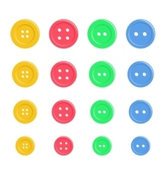 Set of bright plastic sewing buttons Background vector image vector image