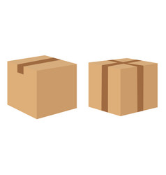 cardboard delivery boxes collection isolated on vector image vector image