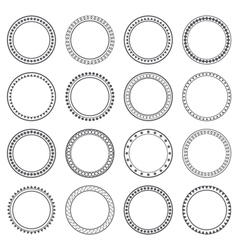 Collection of ethnic borders round frames vector