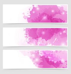 modern art bright web header collection vector image vector image