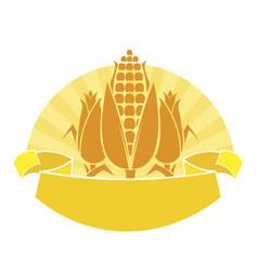 ripe corn vector image vector image