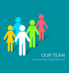 simple our team icon company vector image vector image