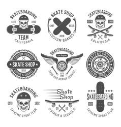 Skateboarding Black Emblems vector image vector image