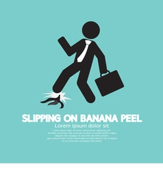 Slipping On Banana Peel vector image