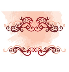 8floral line 04 1 vector image vector image