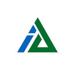 ai triangle letter vector image