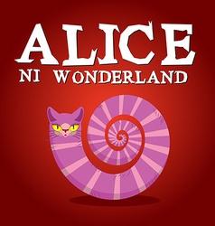 Alice in Wonderland title Cheshire Cat Fantastic vector image