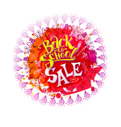 back to school sale on splash vector image vector image