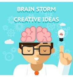 Brain storm creative idea concept vector image vector image