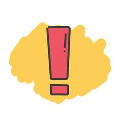 Cartoon doodle exclamation mark vector image