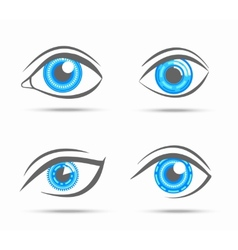 Eyes icons cyber vector image vector image