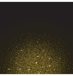 Gold glitter and bright sand dark background vector image vector image