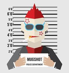 Mugshot of gangster vector