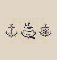anchor collection vector image vector image