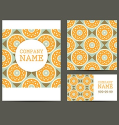 Corporate Business Set Brochure Design Templates vector image
