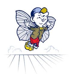 fairy tale boy butterfly vector image
