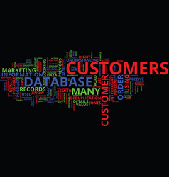 know your customer s customer text background vector image