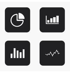 modern graph icons set vector image