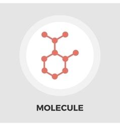 Molecule icon flat vector image vector image