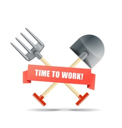 Time to work vector image vector image