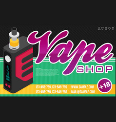 vape banner for web or print vector image vector image